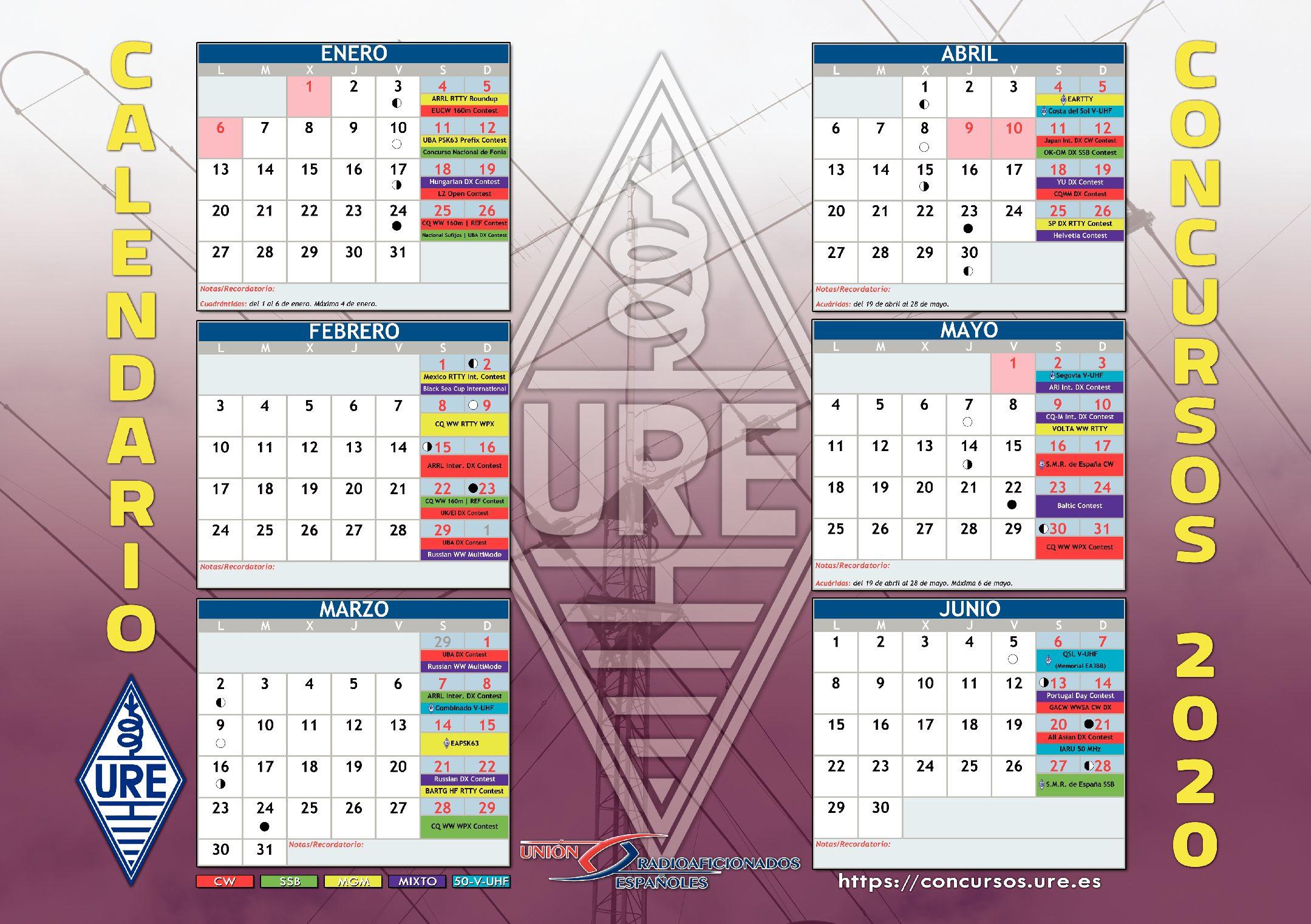 Calendario de Concursos 2020 Editado por URE